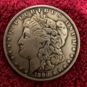 💵 1890 Morgan silver dollar